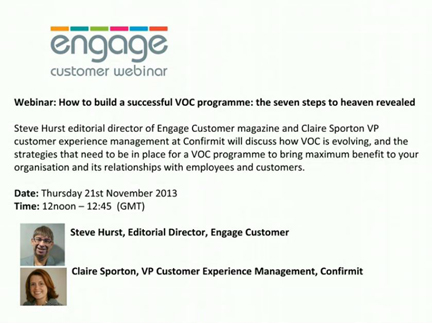 How to Build a Successful VoC Programme