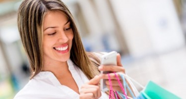 Woman with shopping 580x380