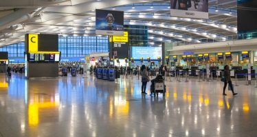 44937186 - london, uk - march 28, 2015: interior of departure hall heathrow airport terminal 5. new building