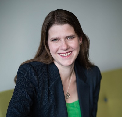 Business Minister Jo Swinson MP, returned from maternity leave.