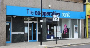 60269688 - sheffield, uk - july 10, 2016: the co-operative bank branch in sheffield, yorkshire, uk. the bank is part of the co-operative group employing 70,000 people.