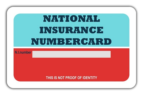 6984849 - blank british national insurance numbercard, isolated on white background.