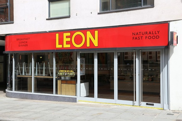 61167100 - london, uk - july 9, 2016: leon natural fast food restaurant in london. according to tripadvisor there are at least 20,700 restaurants in london.