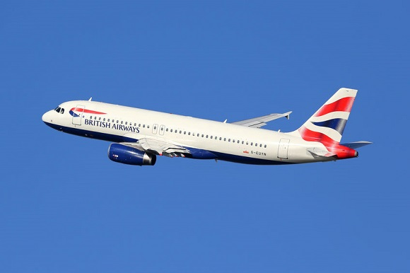 37711133 - barcelona, spain - december 11, 2014: a british airways airbus a320 with the registration g-euyn taking off from barcelona airport (bcn). british airways is the international airline of great britain with its headquarters in london.