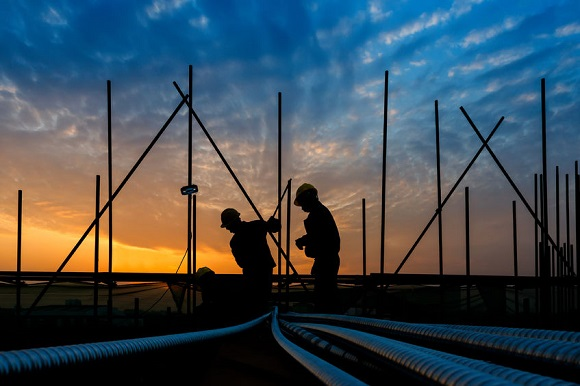 34946499 - construction worker on construction site