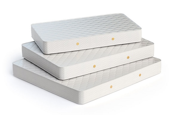 56615190 - mattress isolated on white background. stack of orthopedic mattresses of different sizes. 3d illustration