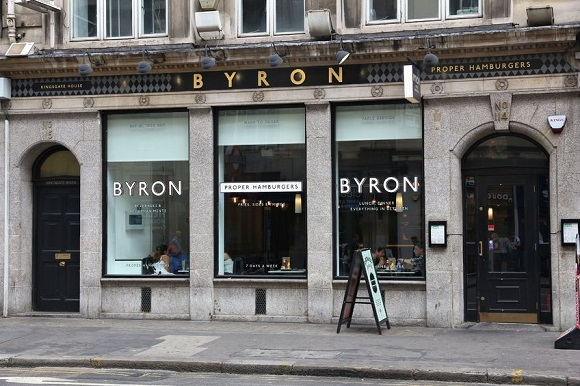 61167108 - london, uk - july 9, 2016: people visit byron hamburger restaurant in london. according to tripadvisor there are at least 20,700 restaurants in london.