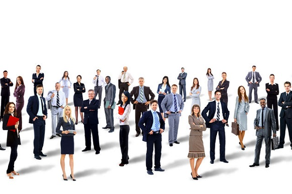 49554880 - group of business people. isolated over white background