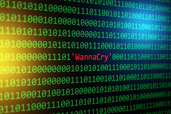 78659693 - the wannacry and binary code, the wannacrypt and ransomware, concept security and malware attack.
